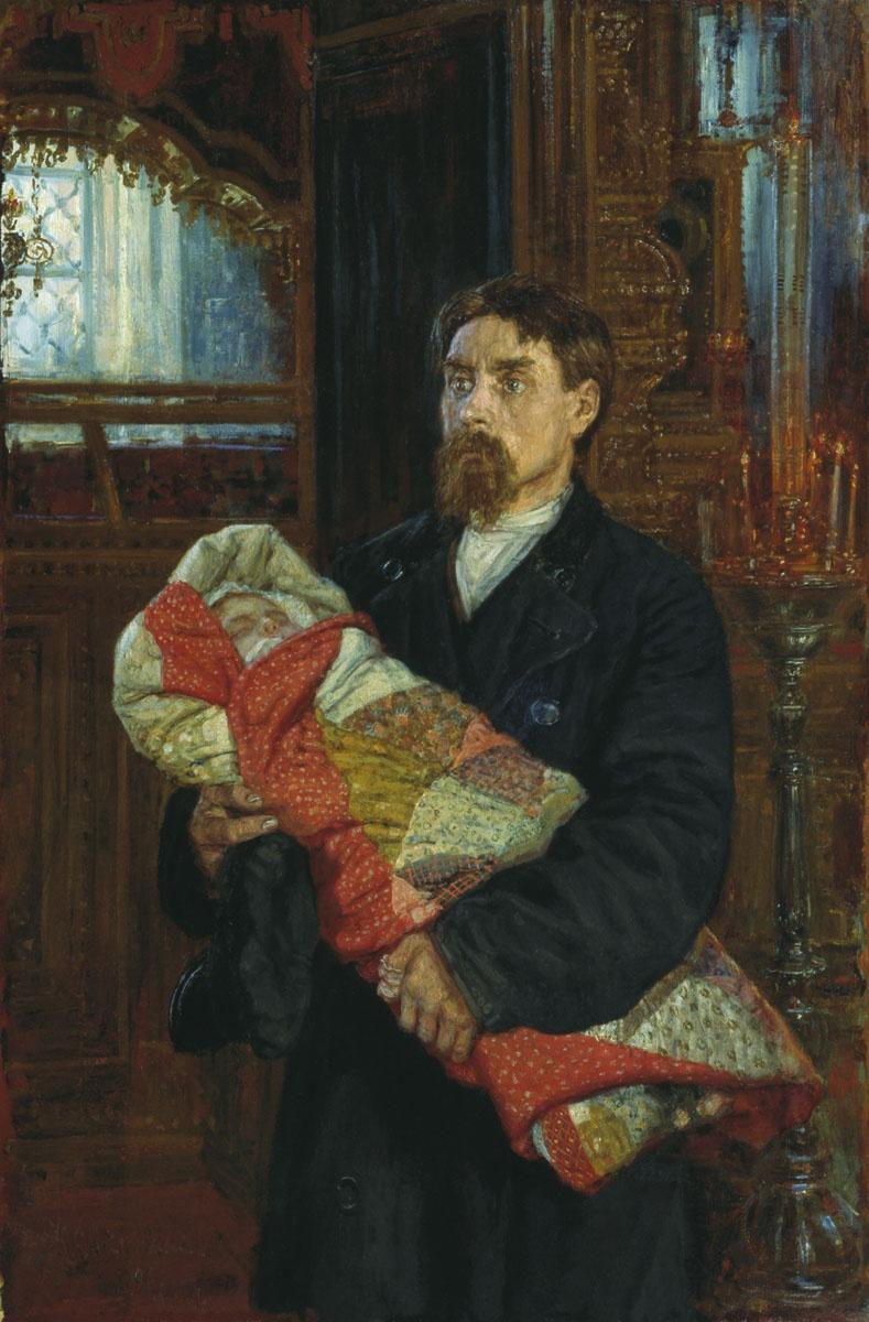 """Картины с отцами. К.А. Савицкий. """"Отец"""""""
